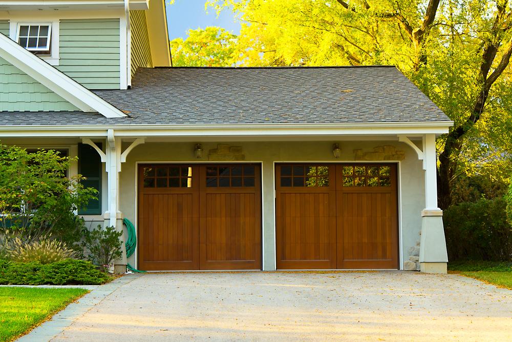 Two car wooden garage, The Woodlands Garage Door Service