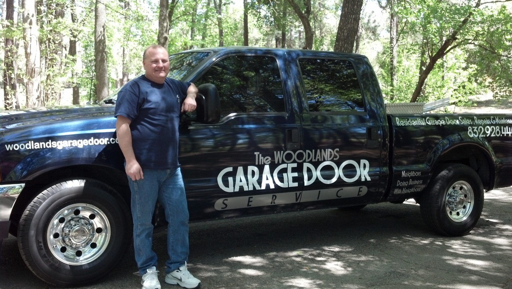 The Woodlands Garage Door Service truck